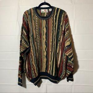 Vintage oversize textured 90s sweater